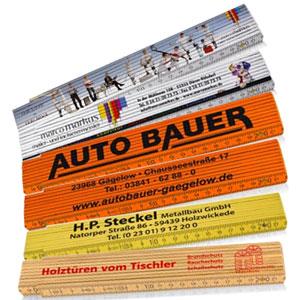 Werbe-Zollstöcke von Druckshop-24.de